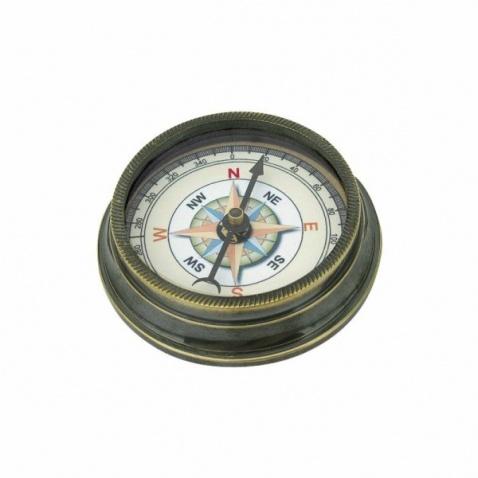 Kompas antická mosadz,priem.6cm