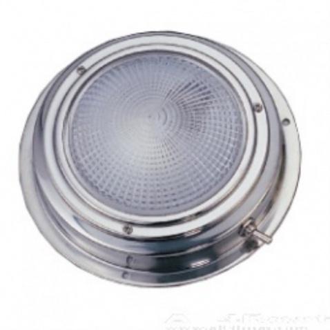 Svetlo kajutové, strieborné - priemer 11cm, žiarovka 8W