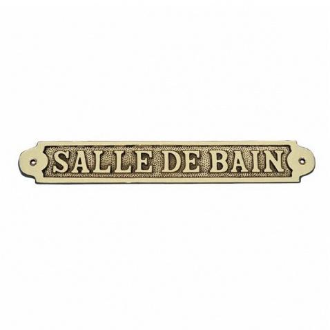 Ceduľka SALLE DE BAIN - mosadz