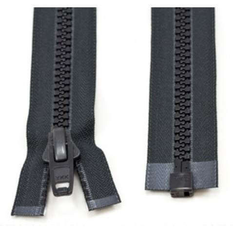 Zips YKK kostenný , čierny – dĺžka 200 cm