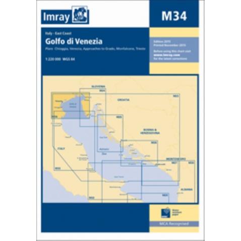 Mapa M34 Golfo di Venezia