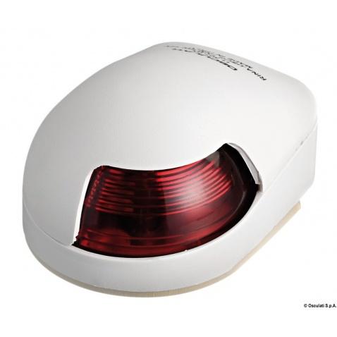 Svetlo pozičné 112,5° červené, 80x58x38v, biely plast