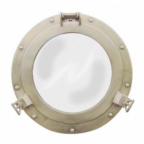 Zrkadlo,priem.28,5cm,antická mosadz