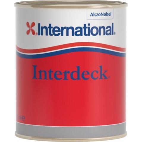 Farba vrchná  INTERDECK - krémová 027, 0,750l