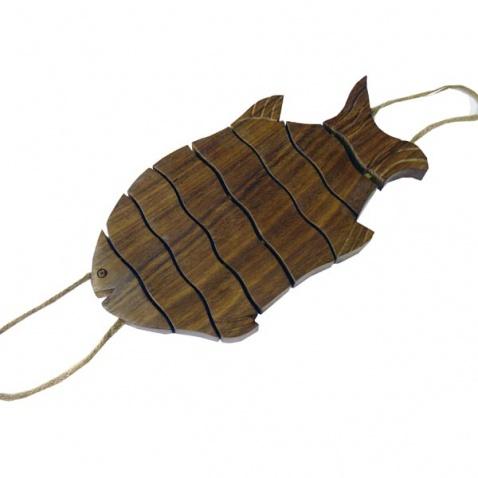 Podložka pro hrniec - ryba, drevo