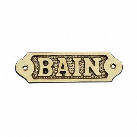Ceduľka BAIN - mosadz