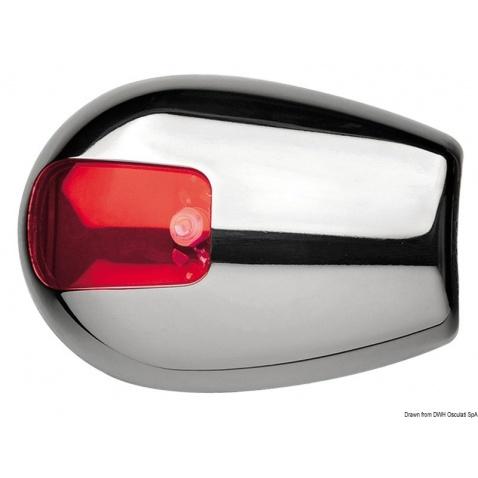 Pozičné svetlo, červené, bočná montáž, pre lodě do 12m