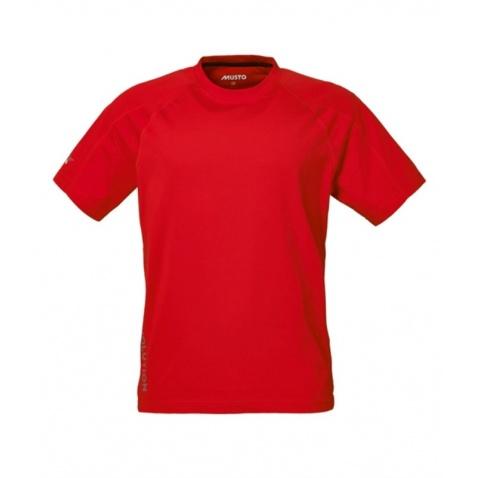 Tričko Musto Evolution logo s/s tee krátky rukáv true red