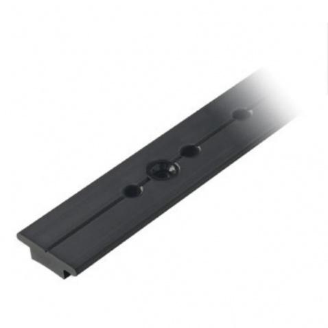 "Koľajnička 25mm – RC7251-1.0A Racing track, black, 25mm (63/64"") stop hole centres"