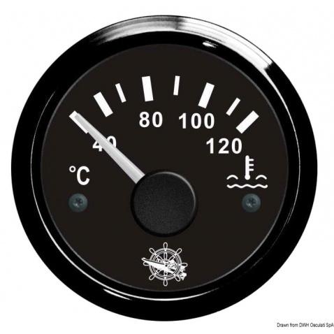 Teplomer voda, 40-120°, čierny
