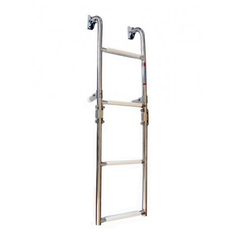 Rebrík štvorstupňový skladací 2+2,nerez