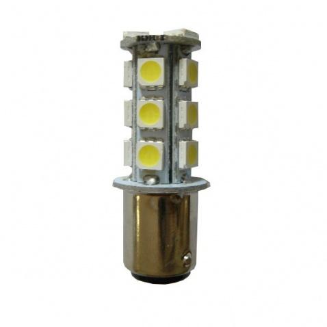 Žiarovka 12 V, LED, 2-polová, (18x led), biela
