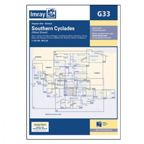 Mapa G33 Southern Cyclades (West Sheet)