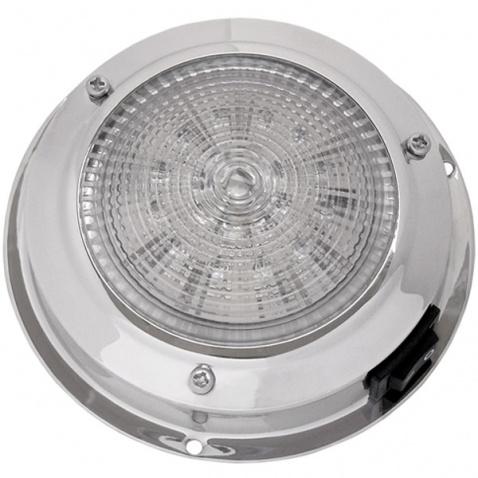 Svetlo kajutové, LED, strieborné - priemer 11cm, počet LED diod-12