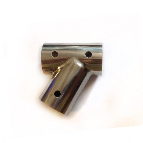 """T"" trubka k zábradliu 60° 22,5mm"