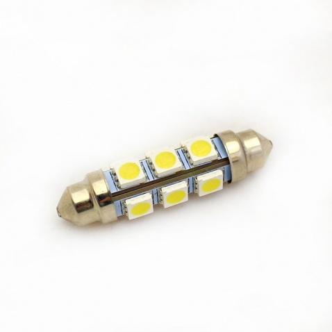 Žiarovka 12V, sufitka, 12x LED, 44mm