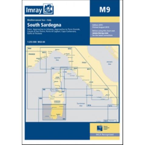 Mapa Sardinie - Jih