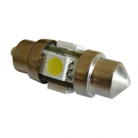 Žiarovka 12V,  LED-1, sulfitka,d.31mm