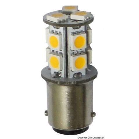 Žiarovka LED, 2-polová, biela