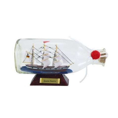 Model lode vo fľaši - plachetnica SEUTE DEERN 16x8x6cm