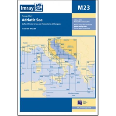 Mapa Adriatic sea