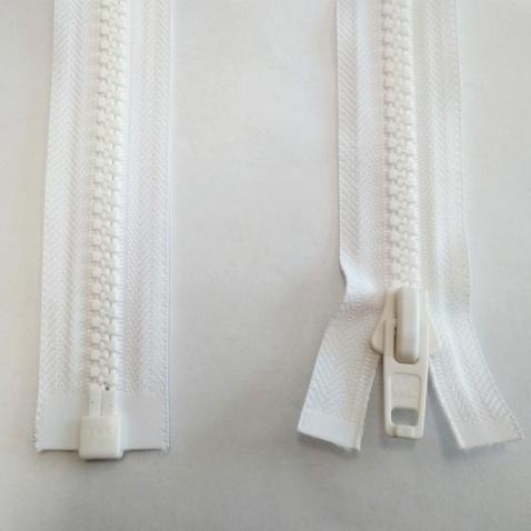 Zip YKK kostěný , bílý - délka 150 cm