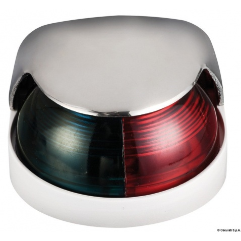 Svetlo pozičné 112,5°+112,5° červená + zelená, nerez + biely plast