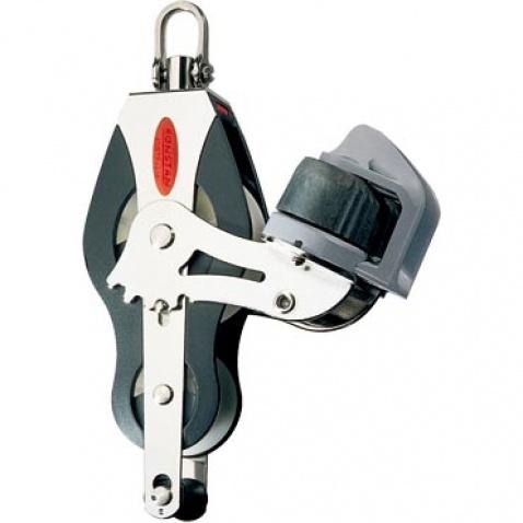Dvojkladka RF51530 Fiddle block, becket, adjustable cleat, universal head