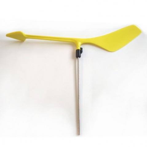 Frklík plast,d.25cm-krátka noha,d.nohy 13cm žlutý