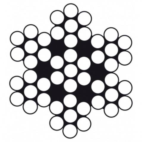 Lano nerezové 7x7 – priemer 3 mm