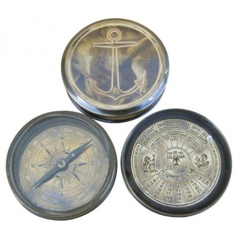 Kompas,antická mosadz,priem.7,5cm