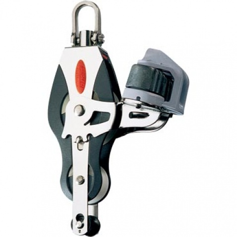 Dvojkladka RF41530 Fiddle block, becket, adjustable cleat, universal head