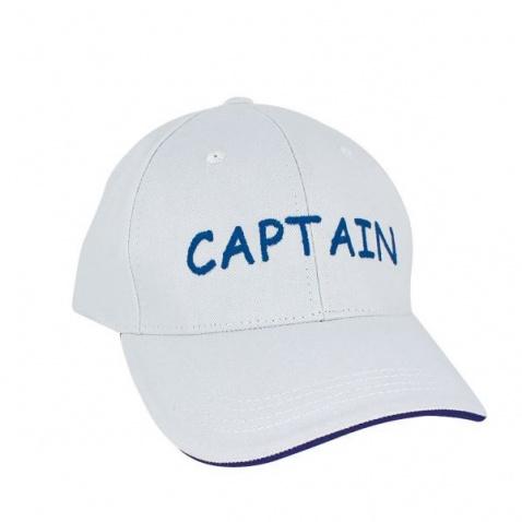 Šiltovka SC-nápis Captain, white