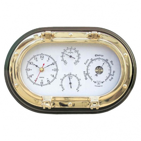 Hodiny, barometer, teplomer, vlhkomer