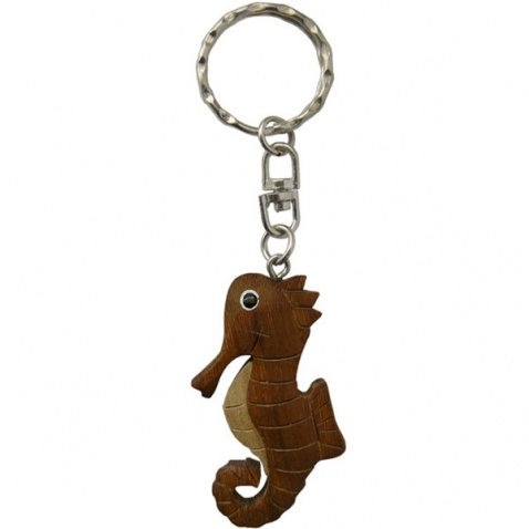 Prívesok drevený - morský koník