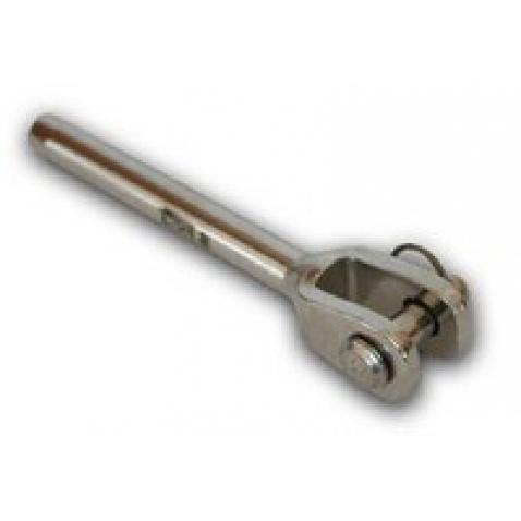 Terminál vidlička s čapom - priemer 6mm  čap 11mm