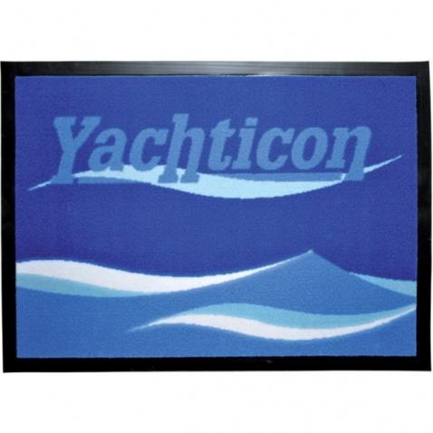 Koberec navy s nápisom Yachticon