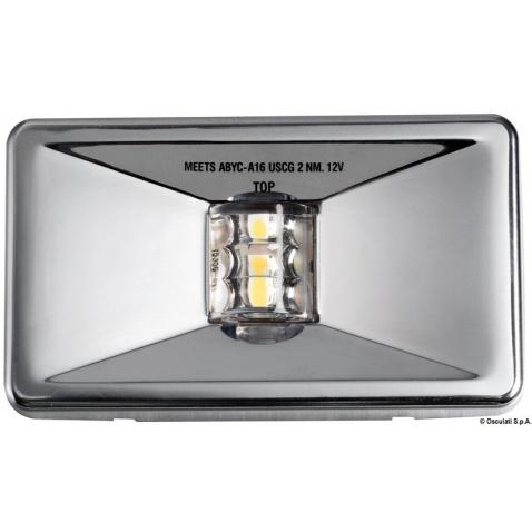 Poziční světlo záďové LED, zapuštěné, pro lodě do 20m