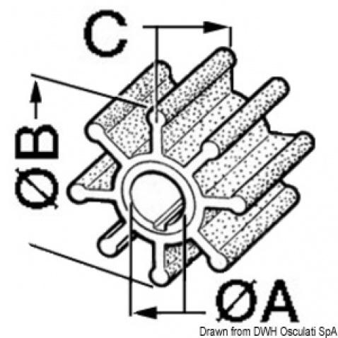 Impeller 500354, Johnson/Evindure 4/7 HP