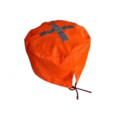 Kryt na propeller látkový oranž,priem.27cm
