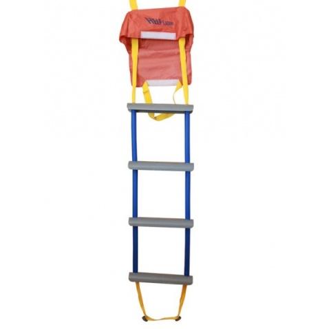 Rebrík povrazový - záchranný, štvorstupňový