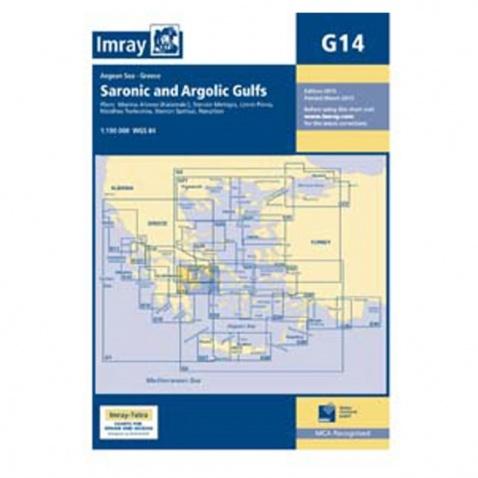 Mapa G14 Saronic and Argolic Gulfs