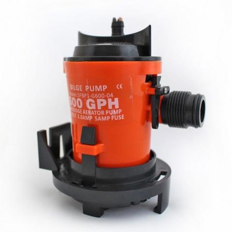 Bilge pumpa, ponorná - výkon 600 GPH, napätie 12 V, 5 A, priemer hadice 19 mm