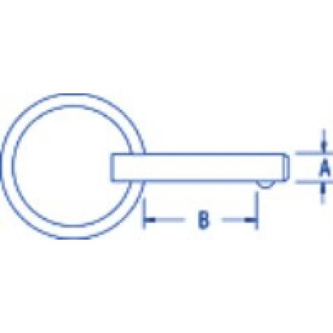 Čap so závlačkou pr. 4,8mm/dĺžka 12,5mm - RF5310