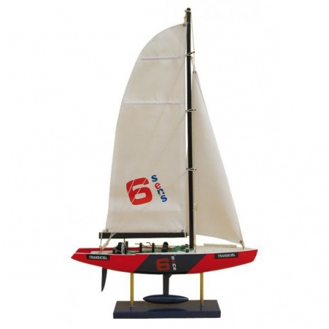 Model lode - America´s Cup Yacht – TRANSICIEL 34x56cm