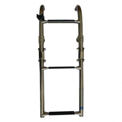 Rebrík trojstupňový skladací 1+2 nerez