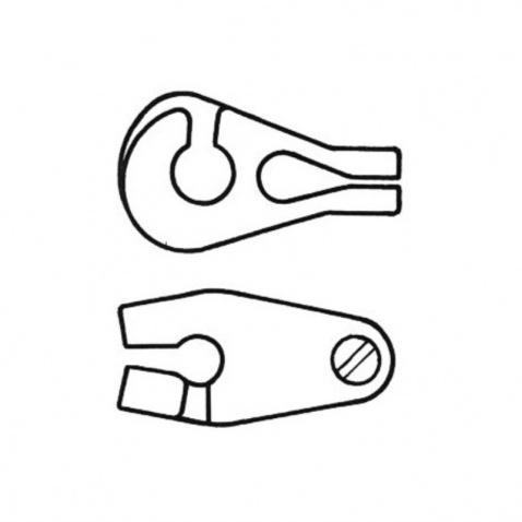 Jezdec plachty (kosatky) na vant (lano, stěh), 4mm (bal. 10ks)