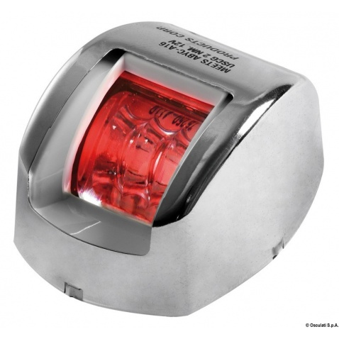 Poziční světlo červené 112.5° nerez