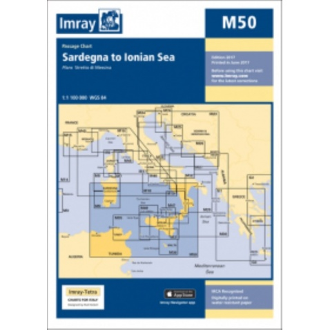 Mapa M50 Sardegna to Ionian Sea