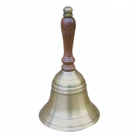 Zvon kapitánský antická mosadz,drevená rúčka